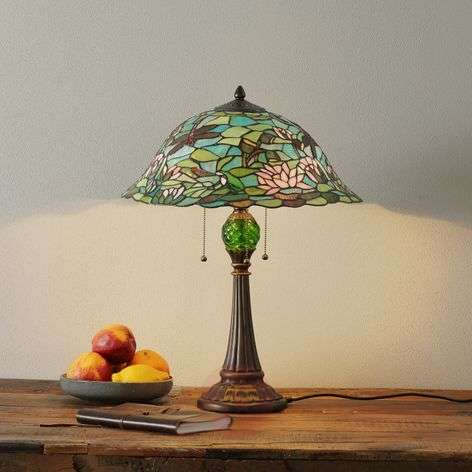 Enchanting table lamp Waterlily, Tiffany-style