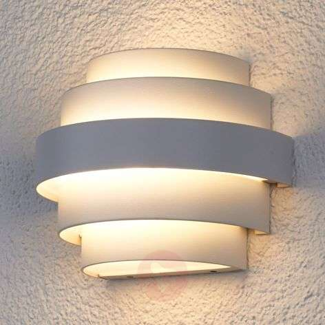 Enisa white LED wall light for outdoor areas