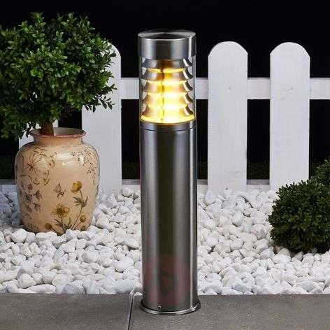 Enja Stainless Steel Pillar Lamp with Fins