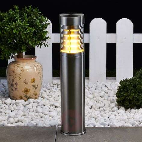 Enja Stainless Steel Pillar Lamp with Fins-9960023-31