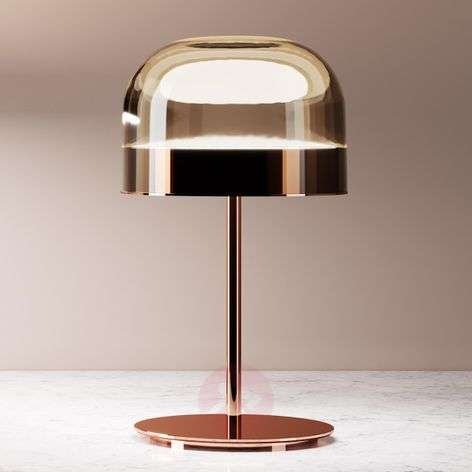 Equatore - LED table lamp in copper, 42.5 cm