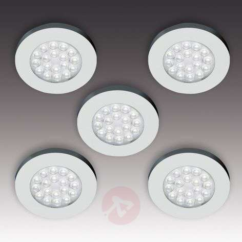 ER-LED set of five flat LED surface lights