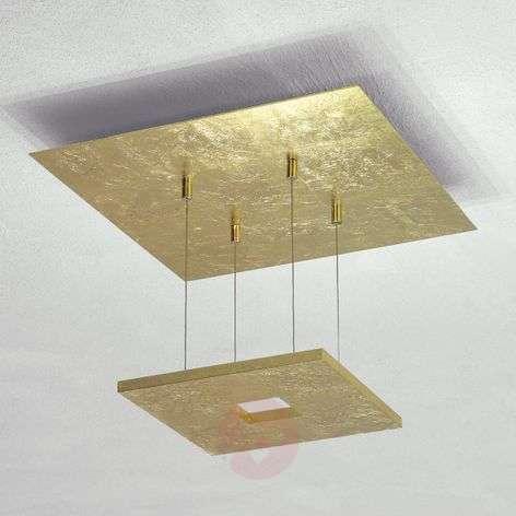 Escale Zen - gold leaf ceiling light with LEDs
