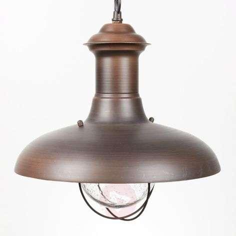 ESTORIL-G Oxide Brown Exterior Pendant Lamp