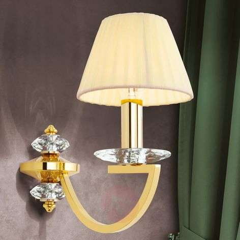 Excellent wall lamp Avala, solid brass
