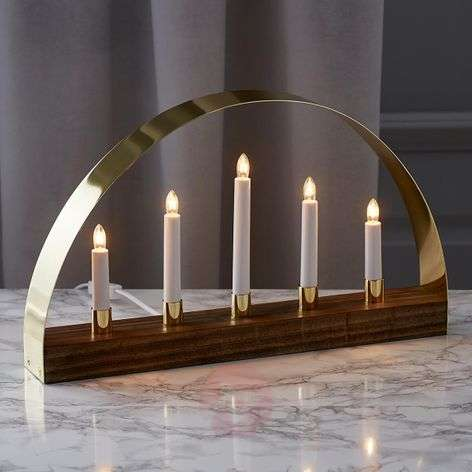 Exclusive candleholder Noble brown-1523285-31