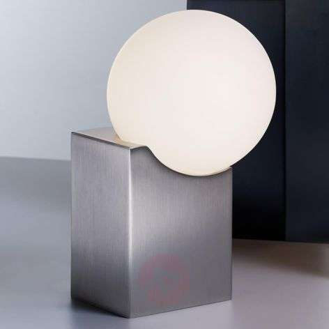 Exclusive table lamp Cub made of glass and steel