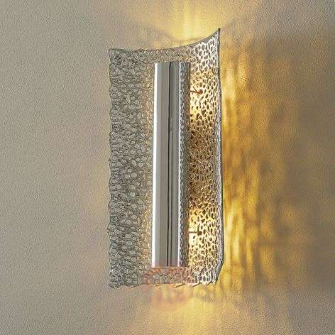 Exclusive wall lamp Utopistico in silver