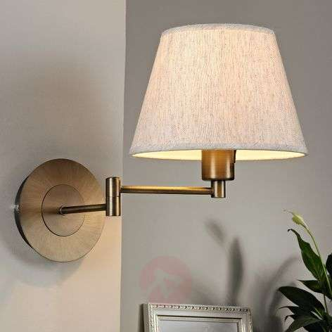 extendable fabric wall light Pola