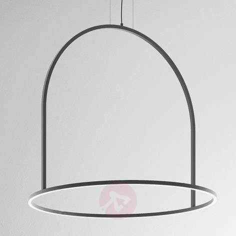 Extraordinary LED hanging light U-Light grey