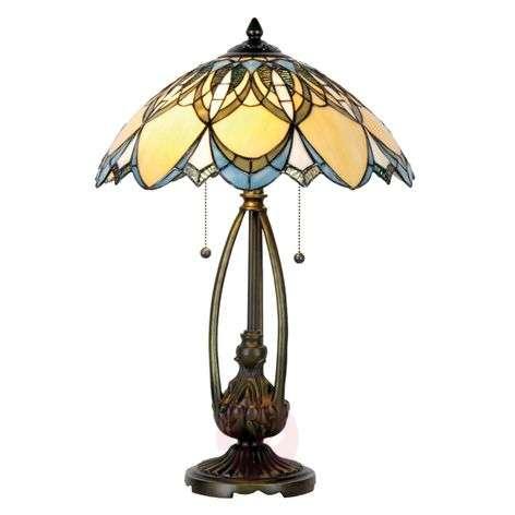 Extraordinary table lamp Poseidon, Tiffany-style