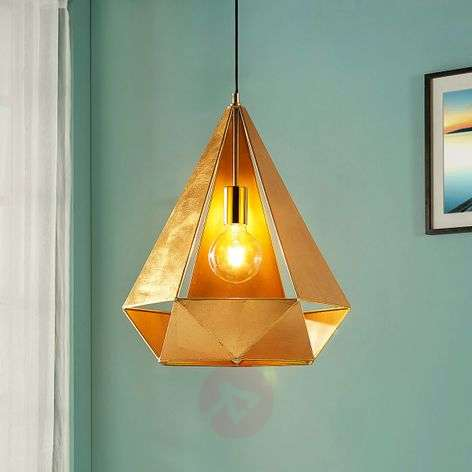 Extravagant pendant lamp Juliet in gold