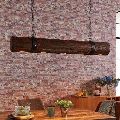 Extravagant wooden pendant light Legno
