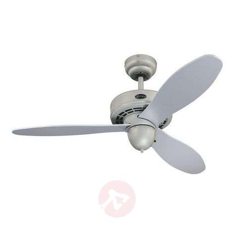 Extremely quiet silver Airplane ceiling fan