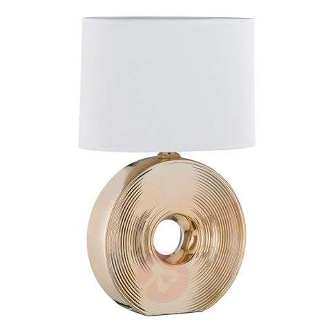 Eye beautiful table lamp with ceramic base gold 54-4581284-32