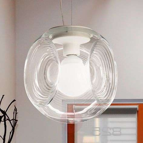 Eyes - glass hanging light with clear diffuser