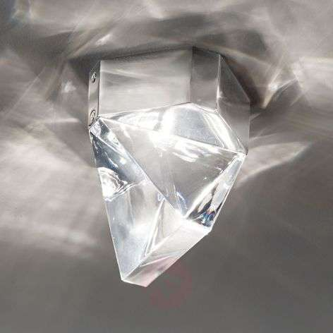 Fabbian Tripla - LED crystal ceiling light, alu