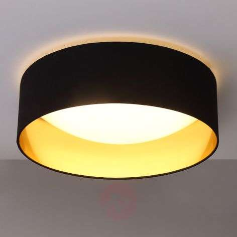 Fabric ceiling lamp Coleen in black, gold inside-9620640-31