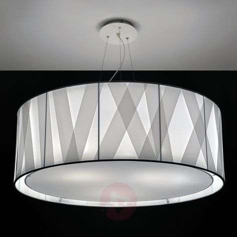 Fabric hanging light Cross Lines S80