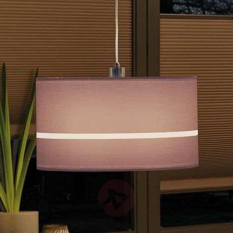 Fabric lampshade Tessa 2Easy - URail pendant light
