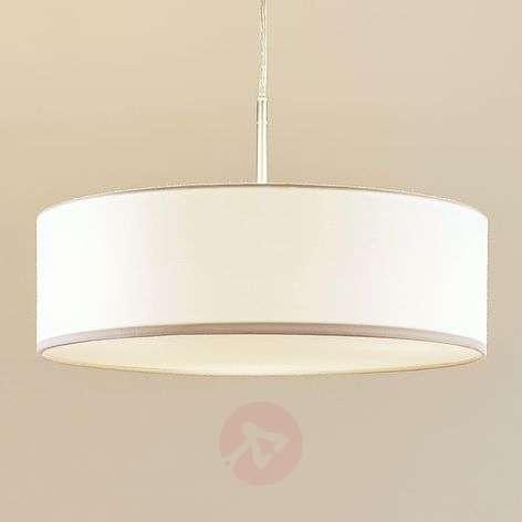 Fabric pendant light Sebatin in white-9620325-32
