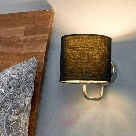Fabric wall light Enna with E14 LED lamp