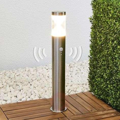 Fabrizio bollard lamp with LEDs and motion sensor