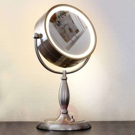 Face cosmetic mirror, illuminated