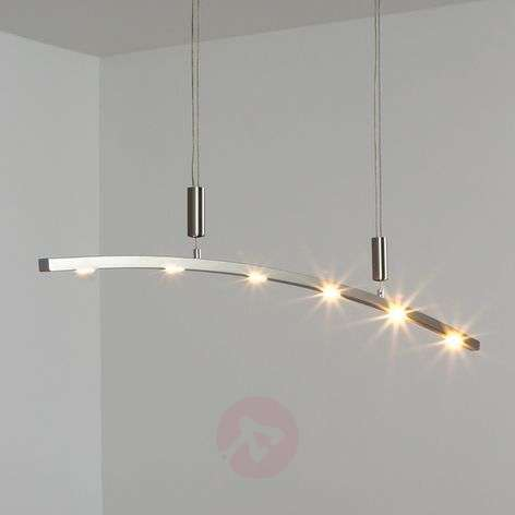 Falo Curved LED Pendant Lamp, Height-adjustable