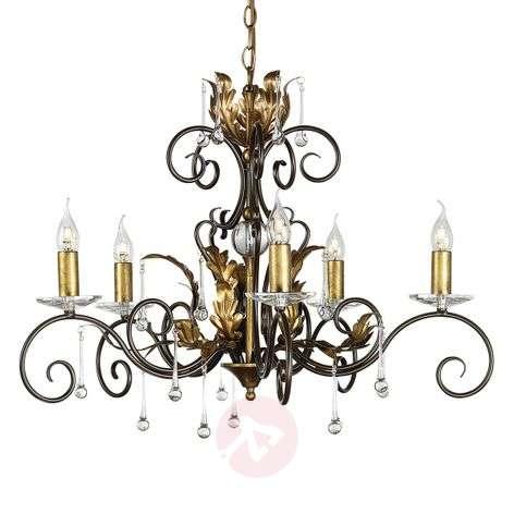 Fantastic chandelier Amarilli bronze, 5-light