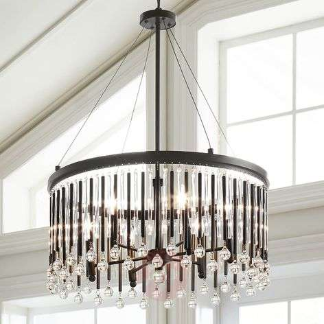 Fantastic hanging lamp Piper with crystal elements