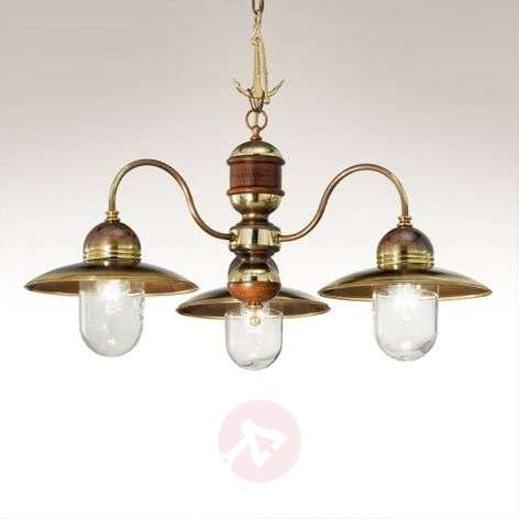 Faro three-bulb hanging light