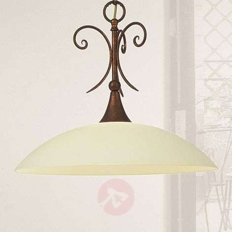 Federico hanging light with antique feel
