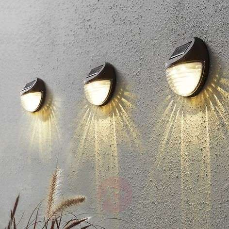 Fency LED solar wall light in set of 3-1523069-31