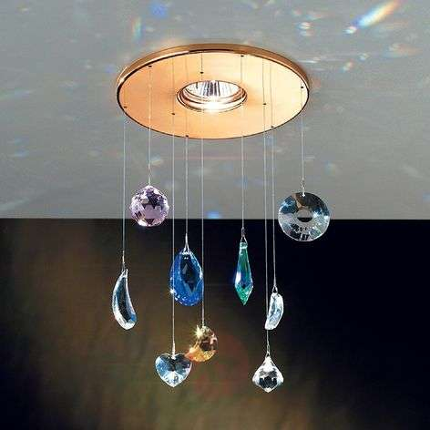 Feng Shui Built-In Light Glittery with Crystals