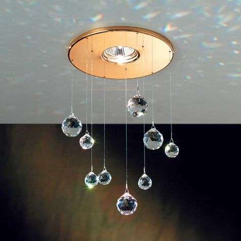 Feng Shui downlight with Swarovski elements, gold