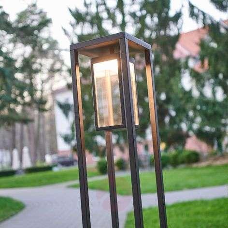 Ferdinand contemporary LED path lamp, dark grey