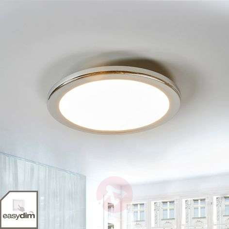 Filina round LED ceiling lamp, dimmable by switch