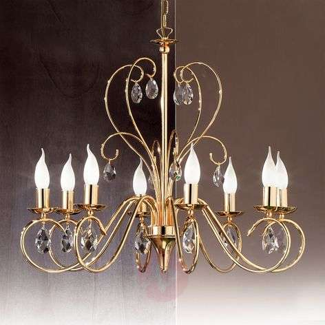Fioretto Chandelier Graceful Eight Bulbs Gold