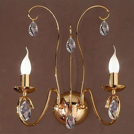 Fioretto Wall Light Graceful Two Bulbs Gold-7253036-31