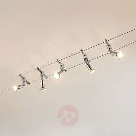Five-bulb cable lighting system Rope with LEDs