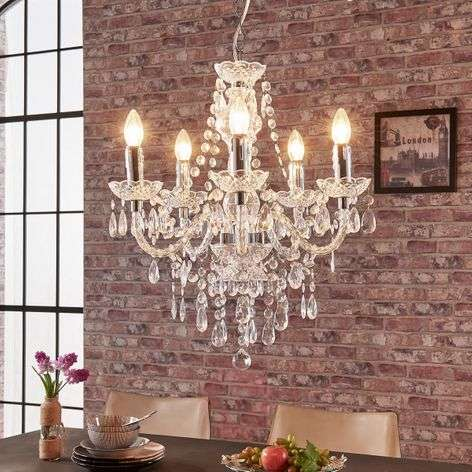 Five-bulb chandelier Merida
