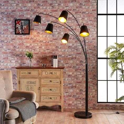 Five-bulb fabric floor lamp Tinne-9621226-32