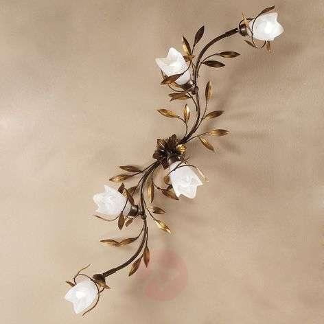 Five-bulb floral ceiling light CAMPANA