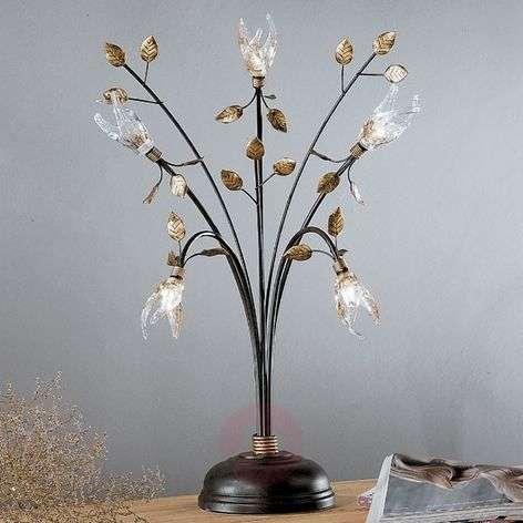 Five-bulb Florentine table lamp MILLEFOGLIE