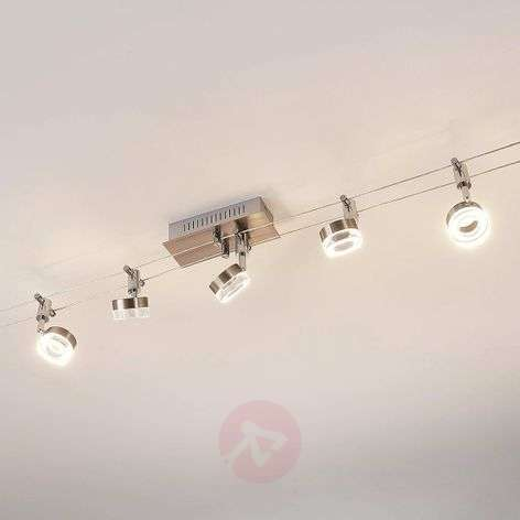Five-bulb LED cable lighting system Enio
