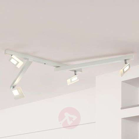 Five-bulb LED ceiling lamp Line in white