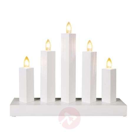 Five-light candleholder Rak, white