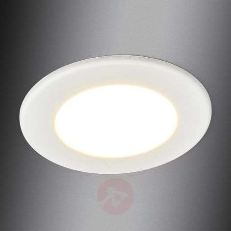 Flat LED recessed light Editha for bathrooms, 5 W