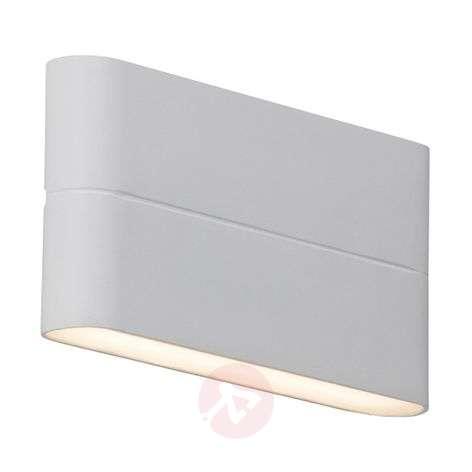 Flat Telesta LED outdoor wall light in white